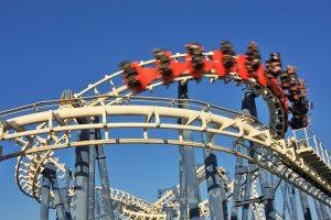 13414512 - roller coaster loop in luna park, tel aviv, israel